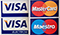 Major Cards - Visa, Mastercard
