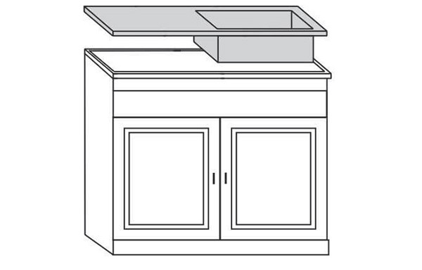 2 Door Sink Unit