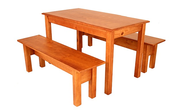 1500 x 900 Table with 2 benches