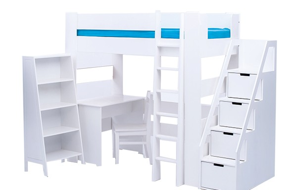 Chelsea 4 piece combo with tall bookshelf plus storage ladder