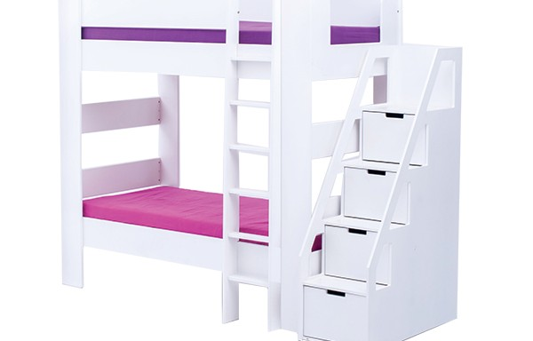 Chelsea double bunk with Storage Ladder