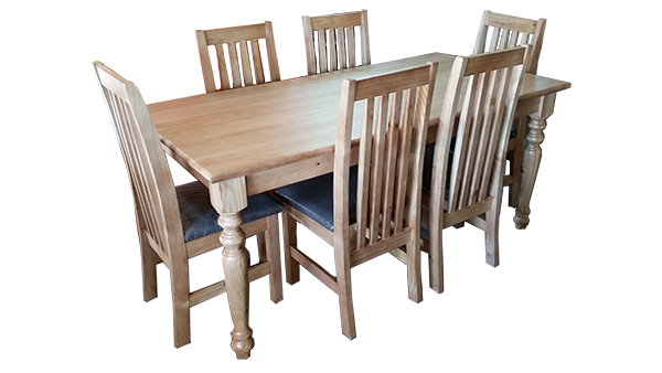 1800 x 900 Table with 6 Eton chairs