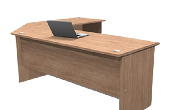 Platinum 22mm L-shape Desk