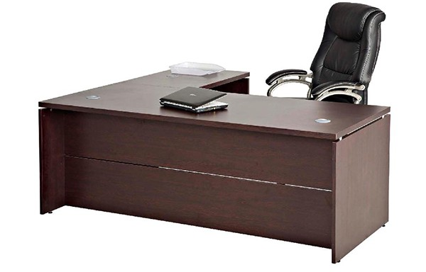 Platinum Executive Desk with Extension