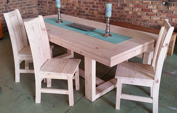 New Yorker Table – Eton Chairs plus bench