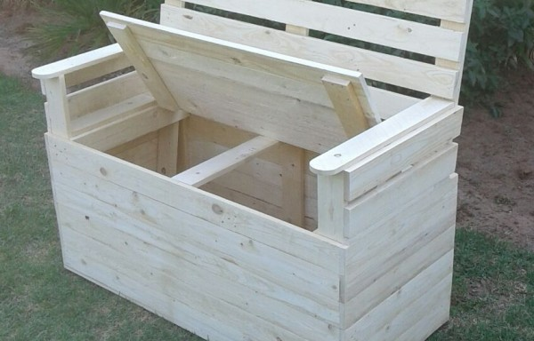 Pallet 2 Seater Bench Storage Space