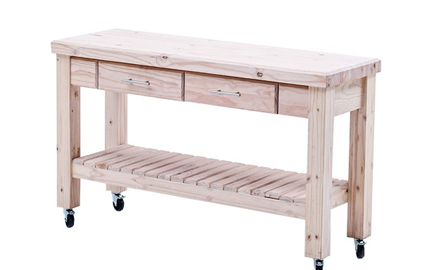 Workbench with 2 Drawers 1500 with castors