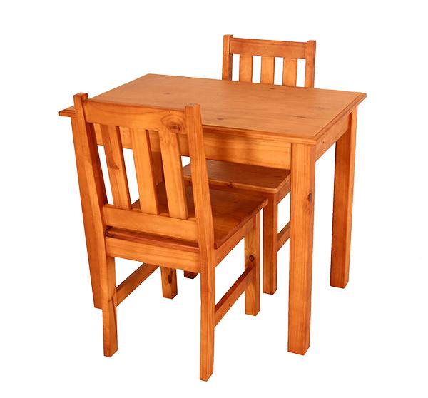 Kitchen Set Square Leg 900 X 600 & 2 Eben Chairs