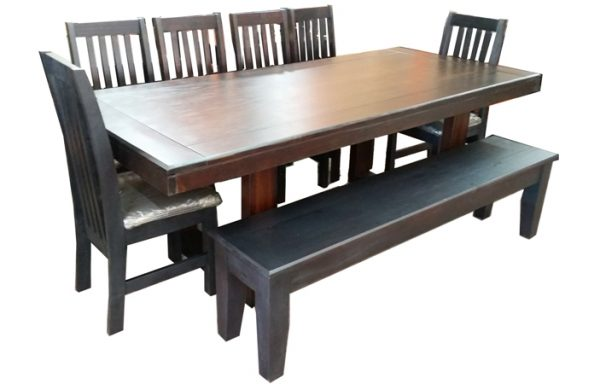 New Yorker Table 6 Eton Chairs Plus Bench