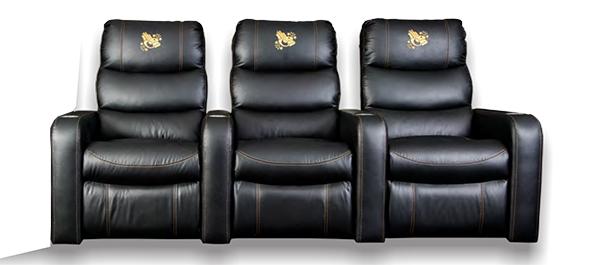 Jasmine Theatre Chair Recliner + 2 x 1 arm Theatre Recliners