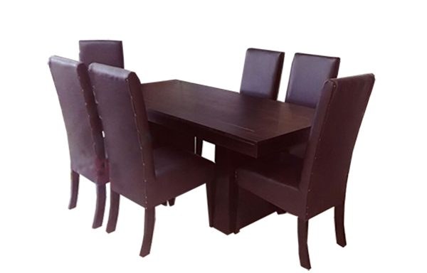 Texas Table & 6 Texas Upholstered Leather PU Chairs