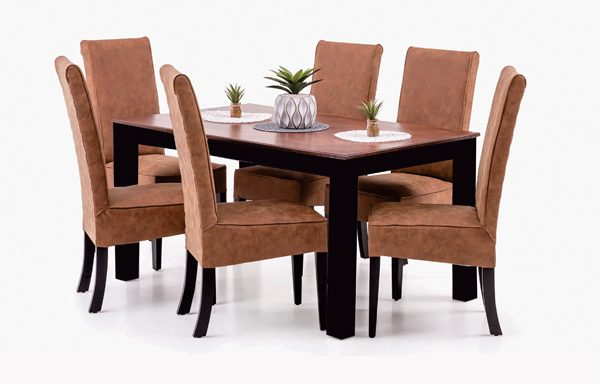 Bastille Dining Table + 6 Dallas Dining Chairs