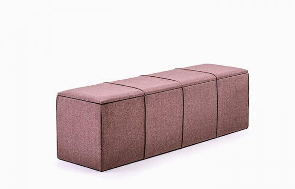 Linen Upholstered Kist De Lux 1800