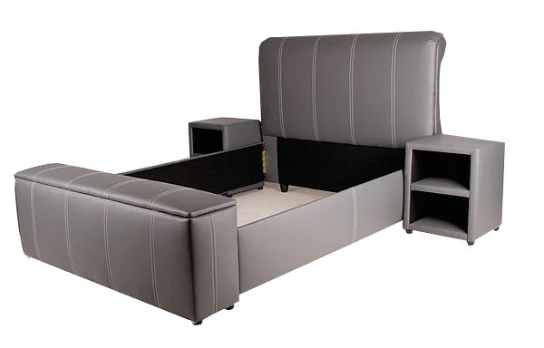 Blanket Box PVC Sleigh Bed – Combo