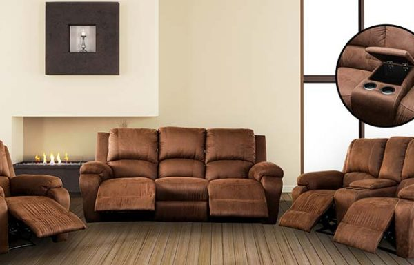 Jasmine 3 Piece 5 Recliner Action + Console