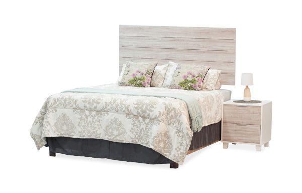 Willow Headboard & Pedestal – White & Lenza Oak