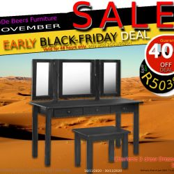 De-Beers-Furniture-Early-Black-Friday-Sale-2020-Deal21-Charlene-3-draw-dresser-and-stool