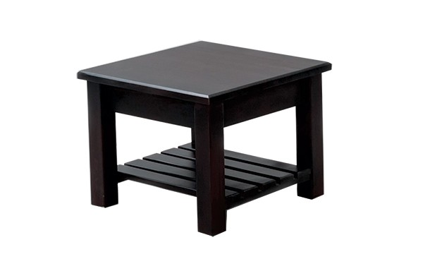 600 x 600 Square Leg Table with Slatted Shelf