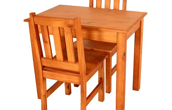 Kitchen Set square leg 900 x 600 & 2 Eben Chairs