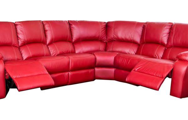 Jasmine 6 Piece 2 Recliner Action Corner Lounge Suite