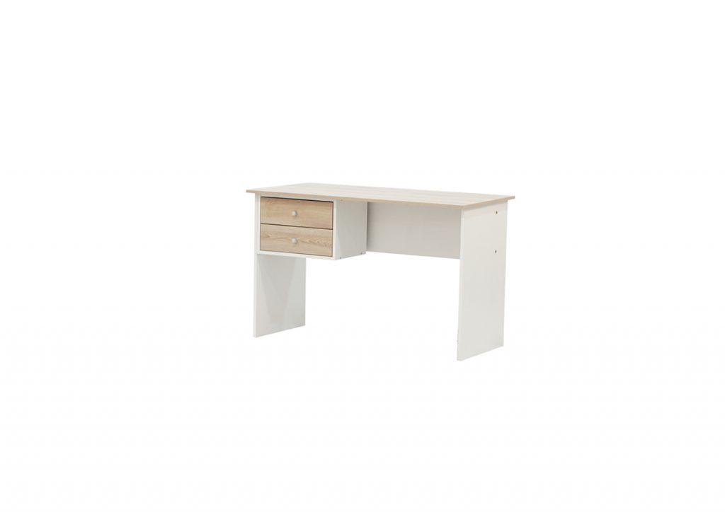 Lunar 2 Drawer Desk - Two Tone